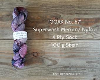 Superwash Merino/Nylon 75/25 Sock yarn 100 g OOAK No. 67