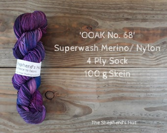 Superwash Merino/Nylon 75/25 Sock yarn 100 g OOAK No. 68