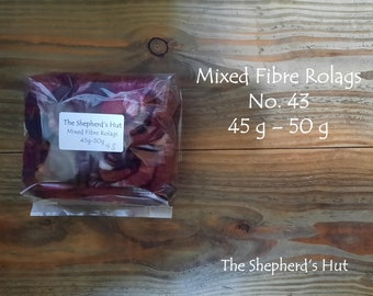 Mixed Fibre Rolags No.43 45/50 g for spinning and fibre craft.