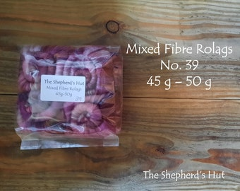 Mixed Fibre Rolags No.39 45/50 g for spinning and fibre craft.