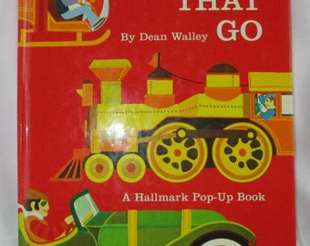 Things that Go: A Hallmark Pop-Up Book Wally/Dudley Vintage 1960s/70s HC Very Good Condition