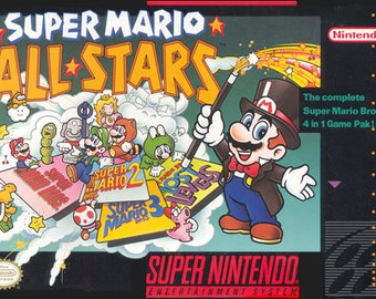 super mario all stars  snes  game Poster Print In A3 #retrogaming please read description