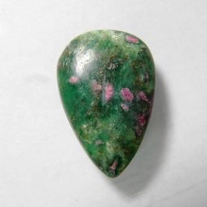 Size 41*27*5mm 61Cts Hand Polish Green Ruby Fuchsite Loose Gemstone Amazing Natural Ruby Fuchsite Cabochon Oval Shape Jewelry Gemstone