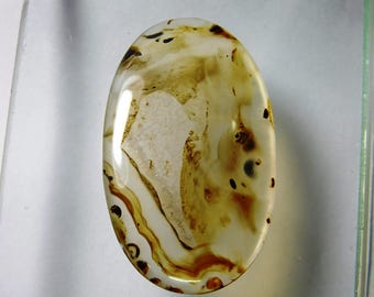 Huge. Montana Agate cabochon gemstone, Natural Montana Agate loose gemstone. Montana Agate loose stone 92 Cts. #2333N