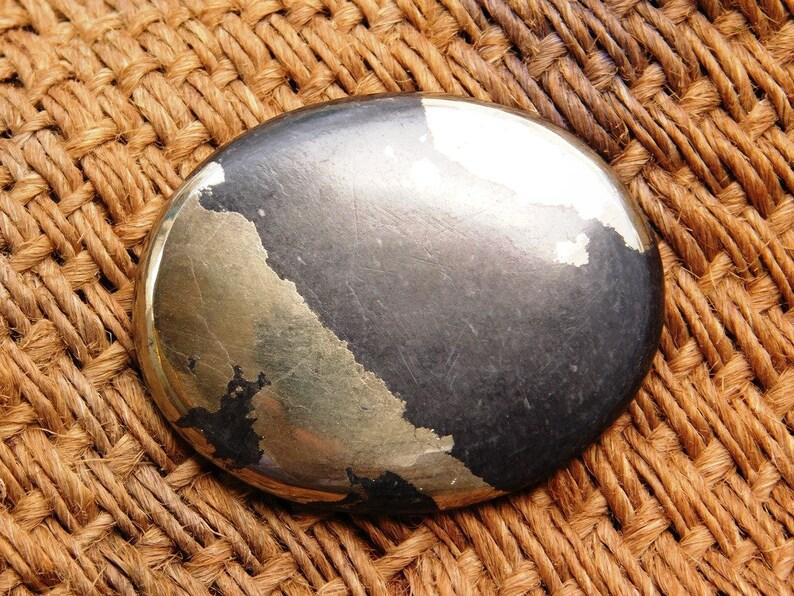 Natural Apache gold gemstone #3084N Apache gold loose stone Pyrite cabochon gemstone 76 Cts A+++ Natural pyrite loose gemstone
