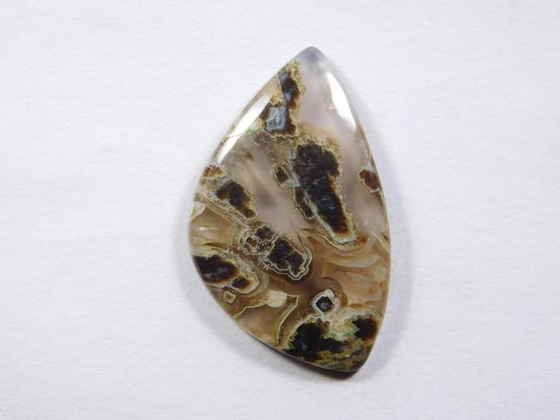 Fansi Shape Loose Natural Stick Agate Cabochon 18 Cts #8208N Pseudomorph Agate gemstone.AAA Designer~ Natural Pseudomorph Agate Cabochon
