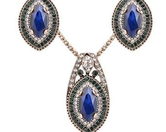 Turkish vintage jewelry necklace set