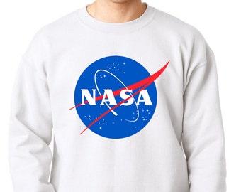 NASA Sweater, NASA Logo High Quality Soft Unisex Crew Neck Sweatshirt, Sweater, Pullover Shirt Gift Present