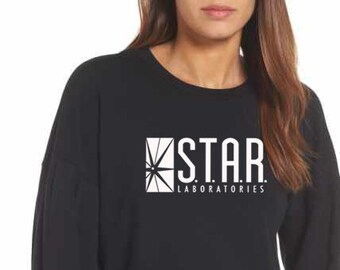 9f2367d89 STAR Labs Shirt STAR Laboratories Flash, The TV Series S.T.A.R. Labs Crew  Neck Soft Unisex Sweatshirt Pullover Sweater Gift Present