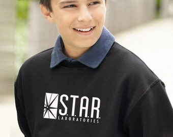 STAR Lab Sweater, STAR Laboratories Flash: The TV Series S.T.A.R. Labs Crew Neck Soft Unisex Youth Sweatshirt Pullover Sweater Gift Present