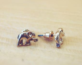 Cute and Dainty Elephant Earrings, Sterling Silver, Silver Plated