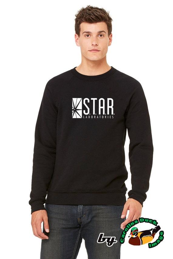 Star Labs S.T.A.R Laboratories Comic Geek Navy Crewneck Sweatshirt
