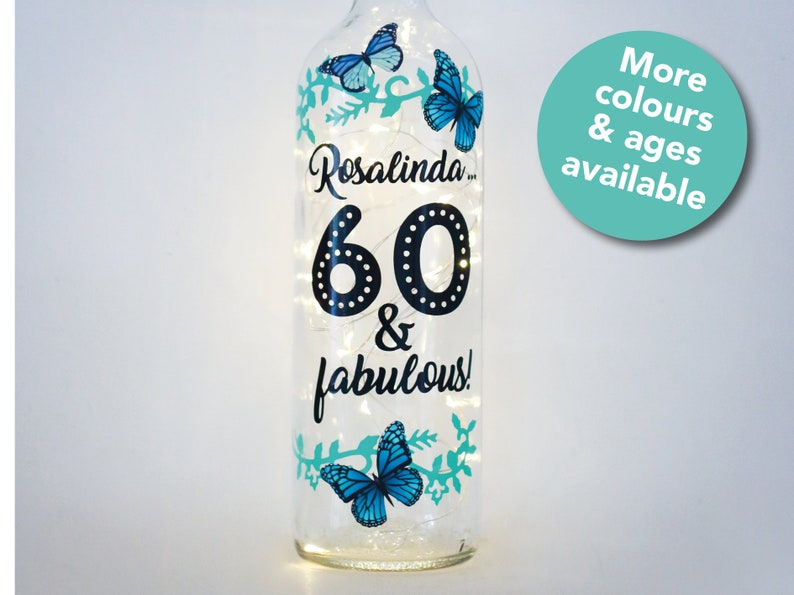 Personalised 60th Birthday Gift For Her Sixty And Fabulous