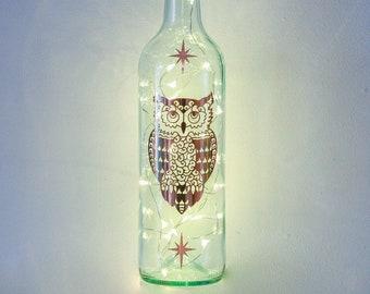 Owl Gifts For Her, Bottle Lights, Christmas Gifts for Sister, Mum, Best Friend, Daughter, Rose Gold Decor, Lantern, Bedroom, Light Up