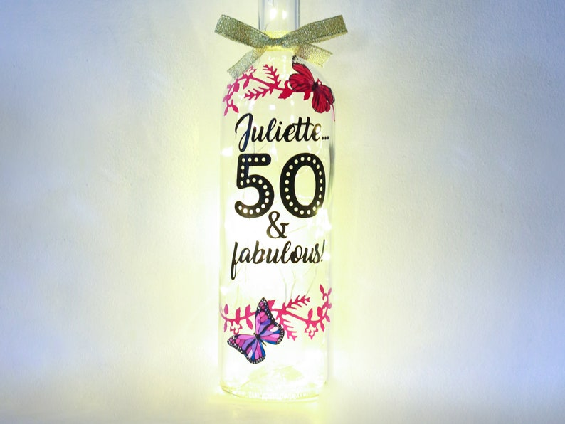 Personalised 50th Birthday Gift For Her 50 And Fabulous