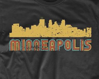 e4cd07f5 Men's Minneapolis Shirt - Retro Vintage Style Minneapolis Minnesota Skyline  T-Shirt