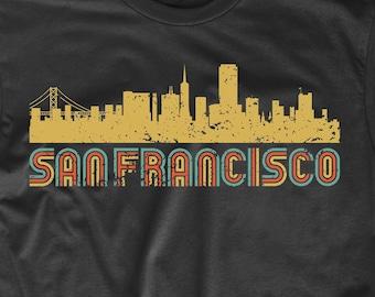 0fc5435834efc4 Men s San Francisco Shirt - Retro Vintage Style San Francisco California  Skyline T-Shirt