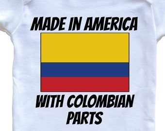Made In America With Colombian Parts Baby Bodysuit One Piece