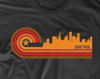 Retro Style Saint Paul Minnesota Skyline T-Shirt