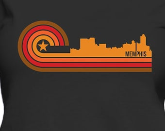 Retro Style Memphis Tennessee Skyline Women's T-Shirt