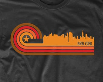 Retro Style New York City Skyline T-Shirt by Really Awesome Shirts