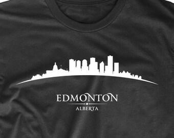 Edmonton Alberta Canada Cityscape Downtown Skyline T-Shirt