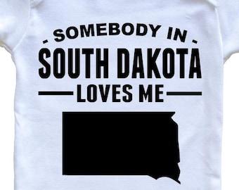 My Grandpa in South Dakota Loves Me Toddler//Kids Sweatshirt