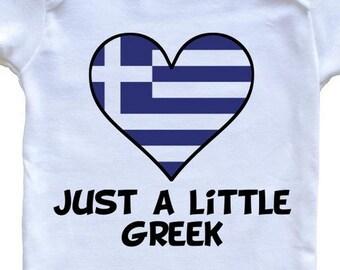 1b0bb0cf8 Just A Little Greek Onesie - Funny Greece Flag Baby Bodysuit