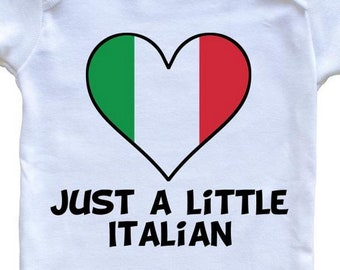 33bba111 Just A Little Italian Onesie - Funny Italy Flag Baby Bodysuit