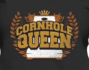 a4d9e9d9 Women's Cornhole Shirt - Cornhole Queen Funny Cornhole Tournament T-Shirt