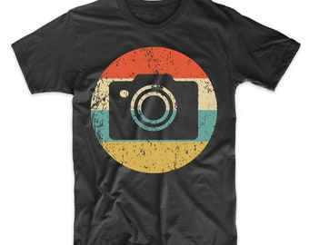 d077a42ff Photographer Shirt - Vintage Retro Camera Men's T-Shirt - Photography Icon  Shirt