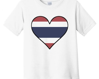 Gift Pride Kids White Shirt Pick Size 2T-5T Bangkok /'Til My Thai Comes Out Thailand Flag Long Sleeve Toddler T-shirt CUTE NOW...