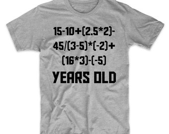 89b2e559 18th Birthday Shirt - 18 Years Old Algebra Equation Funny 18th Birthday  Math T-Shirt