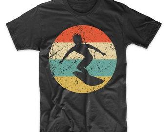 0ce6407be3 Surfing Shirt - Vintage Retro Surfer Men's T-Shirt - Surfing Icon Shirt