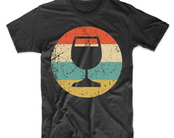 Wine Connoisseur Shirt - Vintage Retro Wine Glass T-Shirt - Wine Icon Shirt a26eca5e4