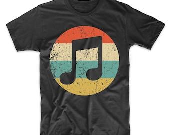53512264c41 Men s Musician Shirt - Retro Musical Notes Icon T-Shirt - Music Shirt