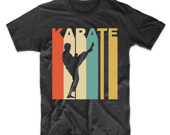 a4b3a5fade6a61 Retro Karate Shirt - Vintage 1970 s Style Karate Martial Arts Sports  T-Shirt by Really Awesome Shirts