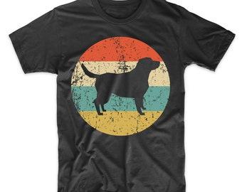 2f4b9b4a246 Labrador Retriever Shirt - Vintage Retro Lab Men s T-Shirt - Dog Silhouette  Icon Shirt