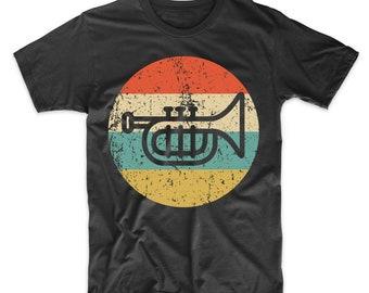c9ae7f6e Men's Trumpet Shirt - Retro Music T-Shirt - Trumpet Icon Shirt