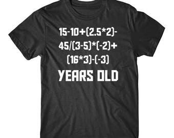 488374cf2 Funny 16th Birthday Math Shirt - 16 Years Old Algebra Equation T-Shirt by  Really Awesome Shirts