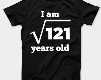 08b4d9df4 11th Birthday Shirt - Square Root of 121 11 Years Old Funny Kids Math Birthday  T-Shirt by Really Awesome Shirts