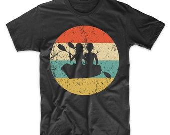22243531 Canoeing Shirt - Vintage Retro Canoe Men's T-Shirt - Canoe Icon Shirt
