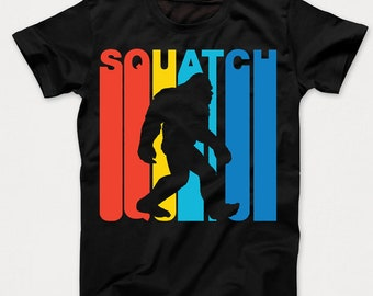 Retro 1970's Style Squatch Bigfoot Sasquatch Kids T-Shirt by Really Awesome Shirts