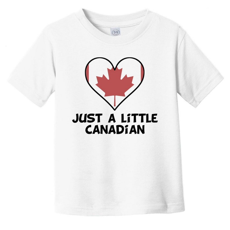 Funny Canada Flag Infant  Toddler Shirt Just A Little Canadian Baby T-Shirt