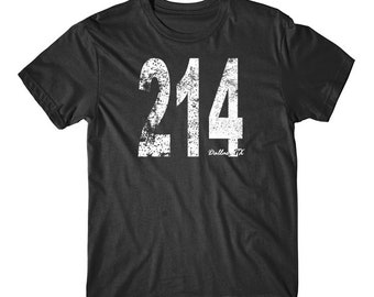 Vintage Style Dallas Area Code 214 T-Shirt by Really Awesome Shirts