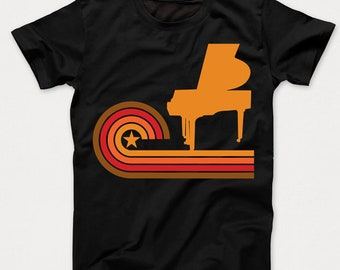 Retro Style Pianist Vintage Piano Kids T-Shirt by Really Awesome Shirts