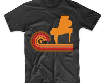 Retro Style Pianist Vintage Piano T-Shirt by Really Awesome Shirts