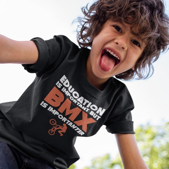 Education Is Important But BMX Is Importanter Funny Bike Kids T-Shirt
