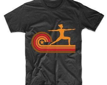 Retro Style Yoga Pose Vintage Yoga T-Shirt