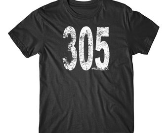 Vintage Style Miami Area Code 305 T-Shirt by Really Awesome Shirts